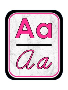 Marble and Neon Alphabet Banner