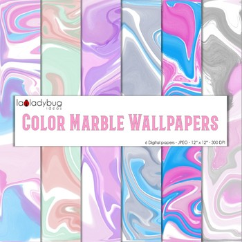 Marble texture, bright colors digital papers. Wallpapers. Backgrounds.