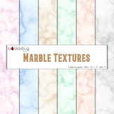 Marble texture, soft colors digital papers. Wallpapers. Backgrounds.