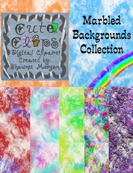 Marbled Backgrounds Collection [Cute Clips Digital Clip Art]