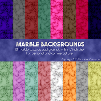 Marbled Digital Backgrounds/Scrapbook Pages for Personal and Commercial Use