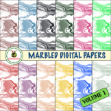 Digital Papers - Marbled Patterns Backgrounds
