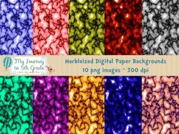 Marbleized Digital Paper Backgrounds