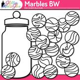 Marbles Clip Art: Compliment Jar Graphics B&W {Glitter Meets Glue}