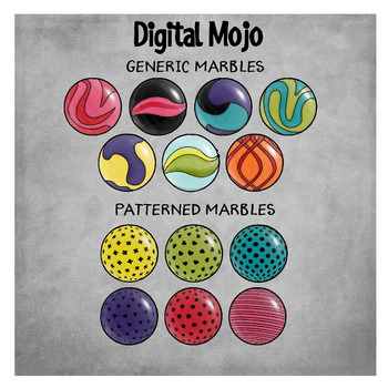 Marbles With Patterns – Probability Clipart