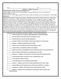 Marbury v. Madison Judicial Review Reading and T/F Worksheet with Answer Key