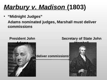 Marbury v. Madison (PPT)