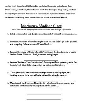 Marbury v. Madison Packet