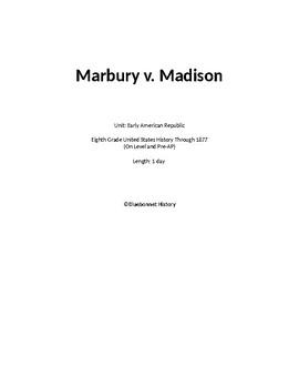 Marbury v Madison Reading Activity