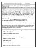 Marbury v. Madison Judicial Review Reading Worksheet with Answer Key