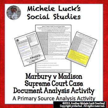 King Lear Essay Topics Marbury V Madison Supreme Court Case Document Analysis Activity How To Write A Good Compare And Contrast Essay also Essay Of My Mother Marbury V Madison Supreme Court Case Document Analysis Activity  Tpt Essay On My Mother
