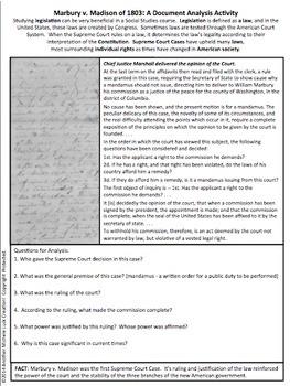 Essays On School Marbury V Madison Supreme Court Case Document Analysis Activity Memory Essay also Essay Help Forum Marbury V Madison Supreme Court Case Document Analysis Activity  Tpt Brown University Essay