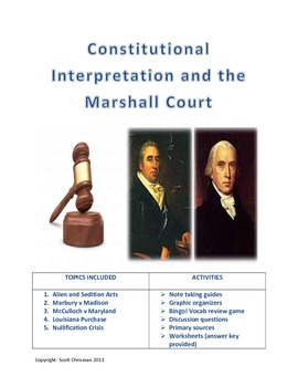 marbury v madison and other marshall court cases by scott chrisman. Black Bedroom Furniture Sets. Home Design Ideas
