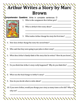 Arthur By Marc Brown Worksheets & Teaching Resources | TpT