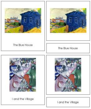 Chagall (Marc) 3-Part Art Cards