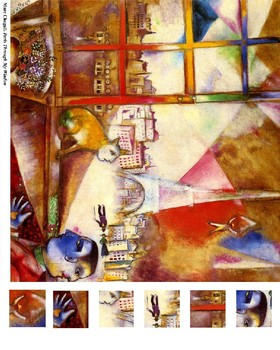 Marc Chagall 3 Part Cards & Magnify Game Package