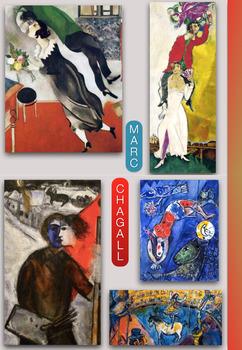 Marc Chagall - Russian Jewish Surreal Painter - Modern Art History - FREE POSTER