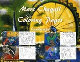 Marc Chagall Coloring Pages 2 (Landscape)