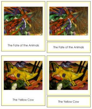 Marc (Franz) 3-Part Art Cards - Color Borders