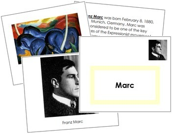 Marc (Franz) Art Book - Color Border