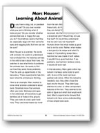 Marc Hauser: Learning About Animal Minds (Life Science/Ani