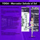 YOGA- Marcador libro Saludo al Sol Yoga