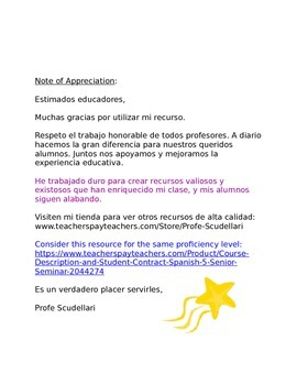 Marcadores discursivos Sp3, Sp4, Sp5: Successful Expressions for Spanish Writing