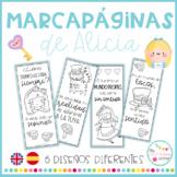 Marcapáginas Alicia - Alice Bookmarks