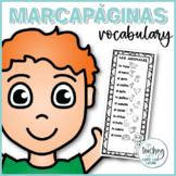 Marcapáginas de vocabulario en español / Spanish Bookmarks