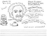 March 14 Albert Einstein's Birthday worksheet