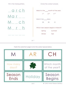 My Little Fun Book of March Helps Reinforce the Months of the Year