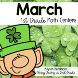 March 1st Grade Math Centers with Task Cards