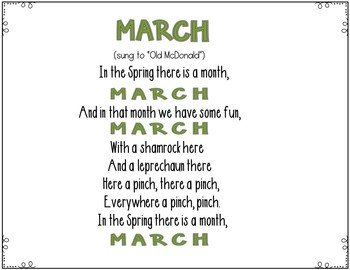 March (2 March Pocket Chart Songs)