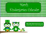 March Kindergarten Calendar Activities for ActivBoard