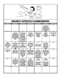 March 2013 Speech Homework Calendar