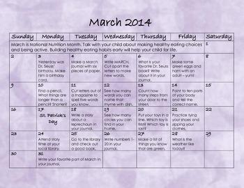 March 2014 Homework Calendar