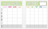 March 2016 Editable Curriculum Planning Calendar