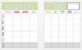 March 2016 Editable Curriculum Planning Calendar