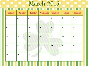 March 2015 FREE printable