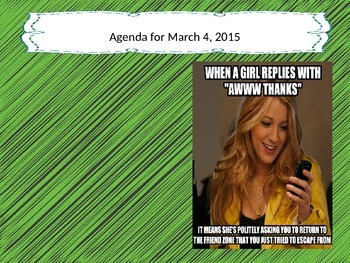 March 2015 Meme Calendar
