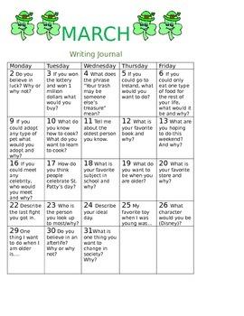 March 2016 writing Calendar