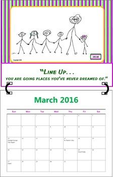 March 2016 ( A 1-Month Inspirational Calendar for Teachers)