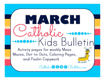 March 2016 Catholic Kids Bulletin with Weekly Saints