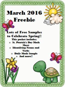 March 2016 Freebie