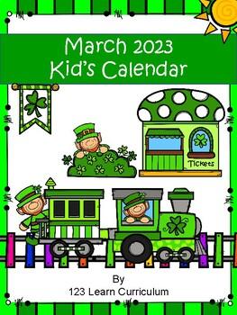 March 2018 Kids Calendar