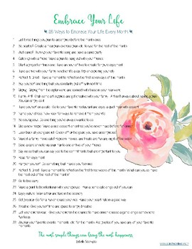 Inspirational and Encouragement Checklist for Teachers and Parents