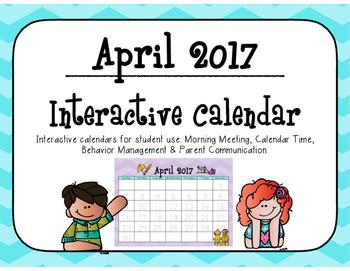 April 2017 Interactive Student Calendar