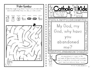 March 2018 Catholic Kids Bulletin with Weekly Saints