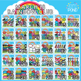 March 2018 Rainbow Club Clipart Bundle