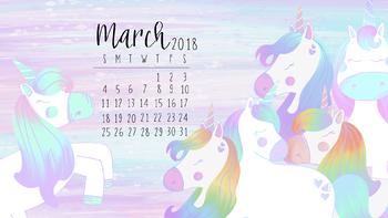 March 2018 Unicorn Computer Wallpaper Freebie-Taracotta Sunrise